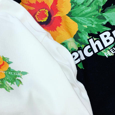 """Vol.2 ロンT BeachBum """"Flower And Leaves""""  Color : White"""