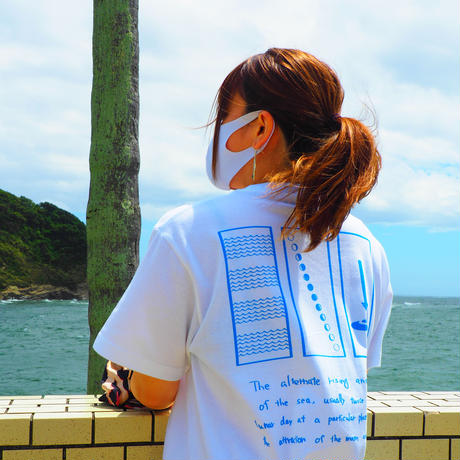 """JERRY SMITH Tシャツ """"TIDE NOON"""" ホワイト"""