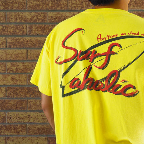 "Vol.41 期間限定 SURFAHOLIC  Tシャツ  ""Board Culture"" Color:イエロー"
