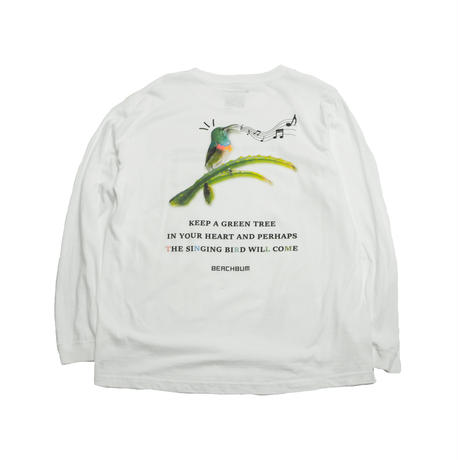 "BeachBum ロンT  ""SINGING BIRD"" Color:White"