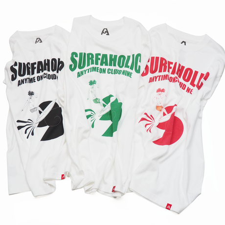 """SURFAHOLIC Tシャツ """"RollerCoaster"""" Color:グリーン"""