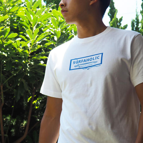"""SURFAHOLIC Tシャツ """"Just Relax"""" Color:ブルー"""