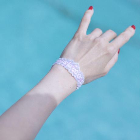 "JULICA   BONBON LETTRE Bracelet ""bisous bisous"""