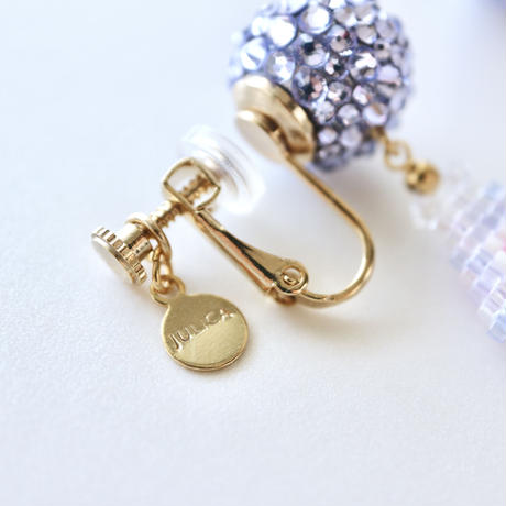 "JULICA   BONBON LETTRE Earrings ""amour"""