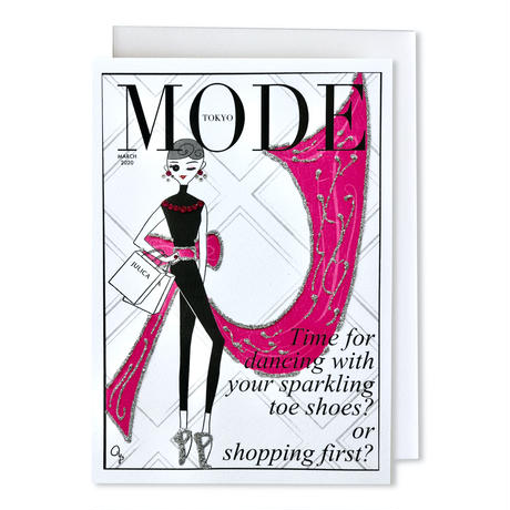 "✦Yurika's Drawing✦ ""MODE magazine [MARCH 2020]"" GREETING CARD[L]"