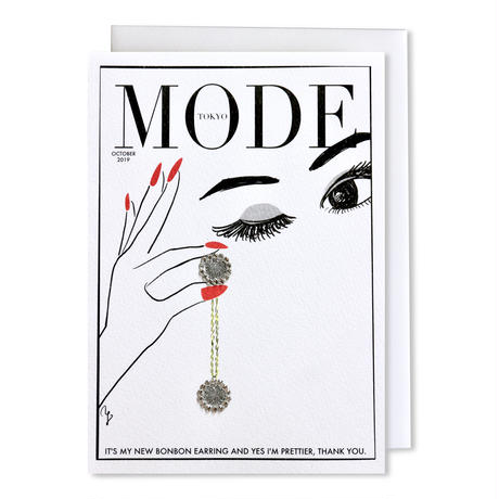 "✦Yurika's Drawing✦ ""MODE magazine [OCTOBER 2019]"" GREETING CARD[L]"