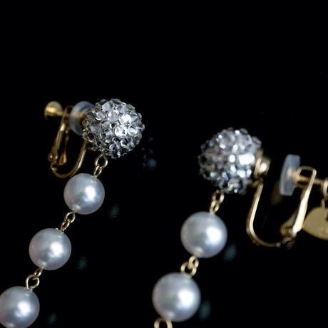 JULICA EARRINGS | LOVE YOU TO THE PEARL AND BACK 3[WHITE]