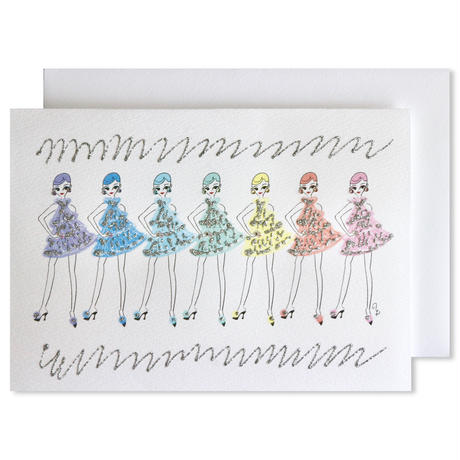 "✦Yurika's Drawing✦ ""WE ARE RAINBOW"" GREETING CARD[L]"