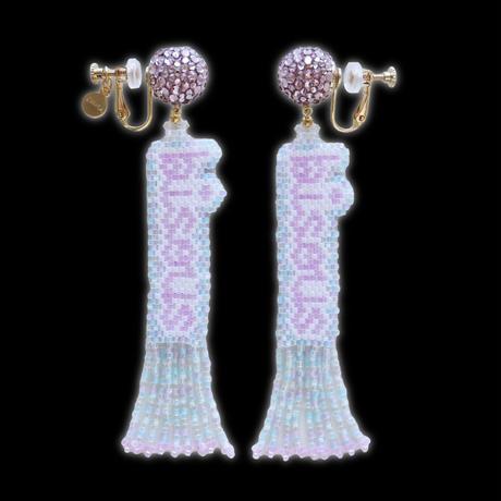"JULICA   BONBON LETTRE Earrings ""bisous"""