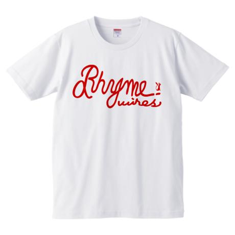 『KUBEROMAKI』MV公開記念 Rhymewires Tシャツ  (白/赤)