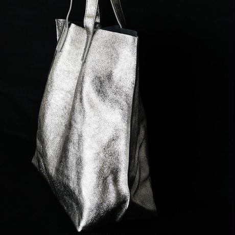 METALLIC LEATHER TOTEBAG - ChampagneGold