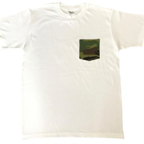 ポケット付きTシャツ/迷彩