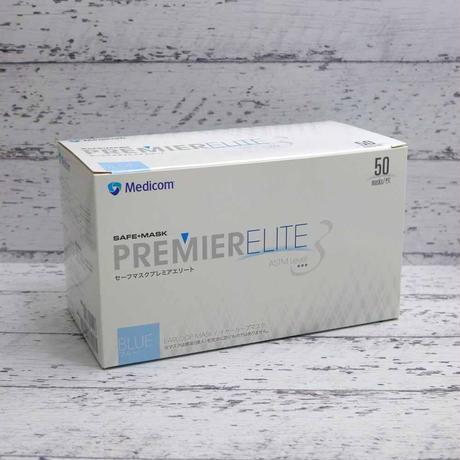 メディコム 医療用規格 ASTM F2100-19 レベル 3 セーフ マスク プレミアム エリート ブルー 50枚入り