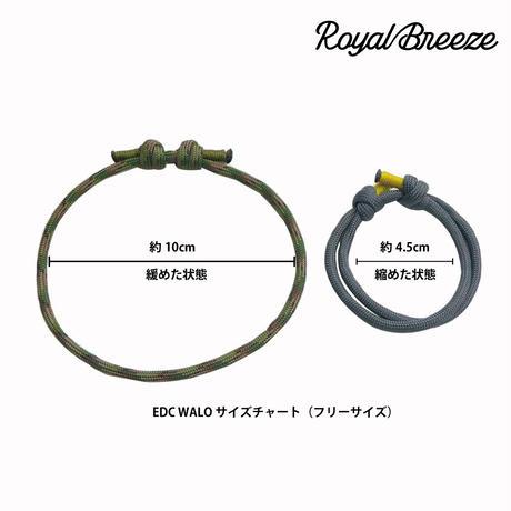 EDC ワーロ ストーム グレイ イエローライン サイズ調整型 パラコード ブレスレット  日本製