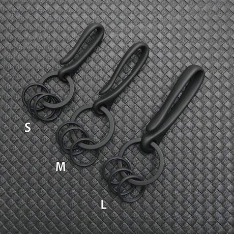 Kuro EDC ブラックバーン 真鍮 黒メッキ キーホルダー  M 日本製