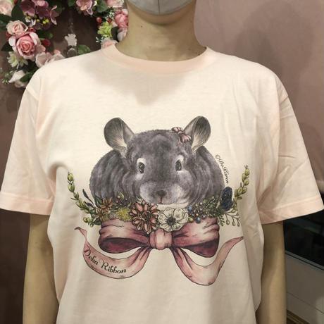 《デ・カリボン×Chinchilla souri*》2020デ・カリボンTシャツ(ピンク)