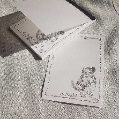 【Chinchilla souri*】チンチラメモ帳 〜嚙っちゃったね〜