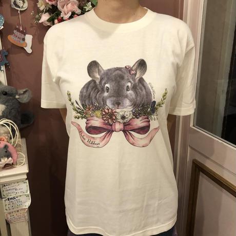 《デ・カリボン×Chinchilla souri*》2020デ・カリボンTシャツ (アイボリー)