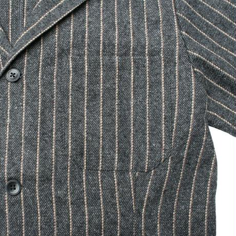 【Cookman】Lab.Jacket 「WoolmixStripe」