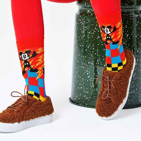 Happy Socks  Disney Mickey-Time Sock  23-25.5