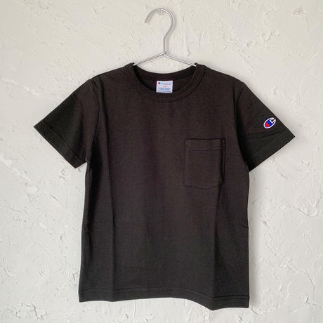 【Champion】POCKET TEE (BLACK SIZE 100-140)