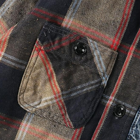 DENIM DUNGAREE ネップチェック シャツ サイズ01,02