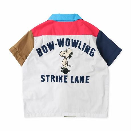 DENIM DUNGAREE|ブロード SNOOPY ボーリング シャツ サイズ01,02