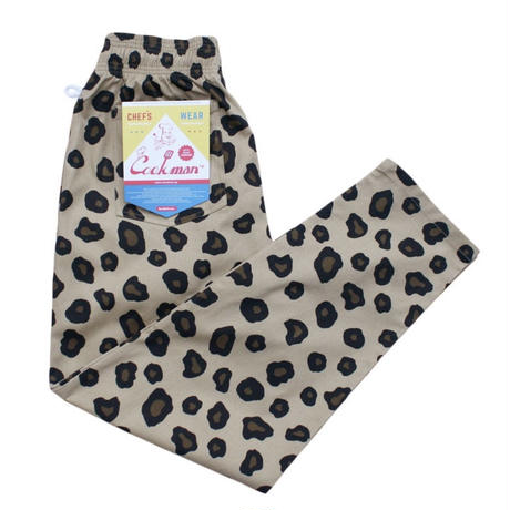 【Cookman】Chef Pants「BIG LEOPARD」
