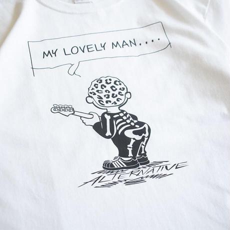 """OK213-013【""""MY LOVELY MAN"""" S/S TEE】 WHITE"""
