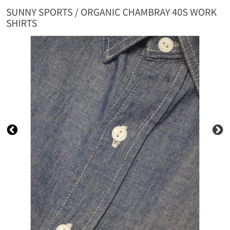 SUNNY SPORTS/サニースポーツ 40'S WORK SHIRTS