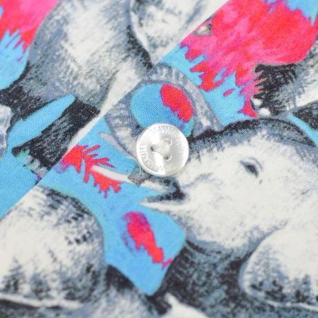 【STAMMBAUM - シュタンバウム】ALH-OHE / Turquoise (シャツ/ターコイズ)  サイズM
