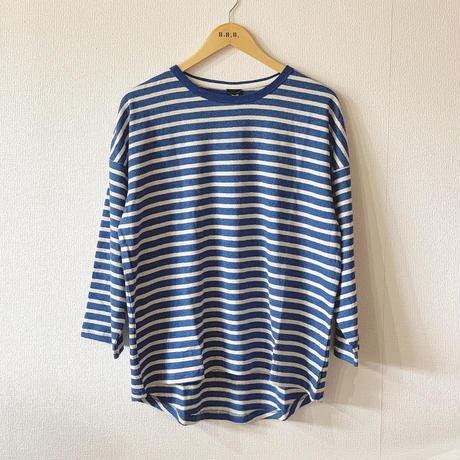 【GOHEMP】ROUND LOOSE TEE (OCEAN BLUE)