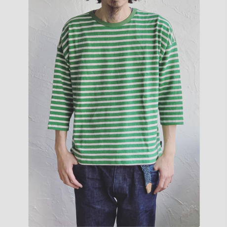 【GOHEMP】ROUND LOOSE TEE (GRASS GREEN)