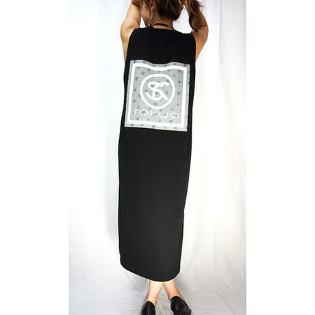 MONOGRAM LOGO LONG DRESS