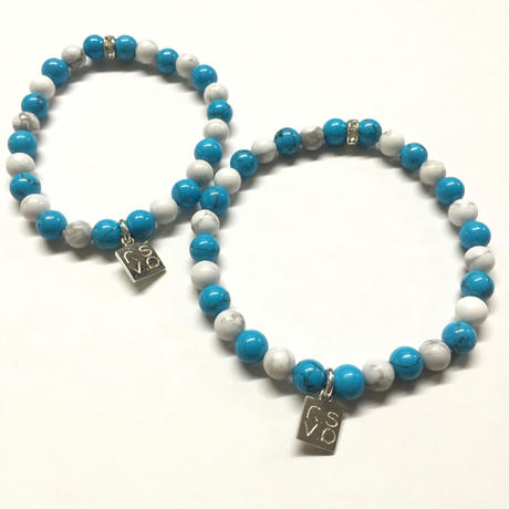 NATURAL STONE BEAD BRACELET(TURQUOISE / HOWLITE)