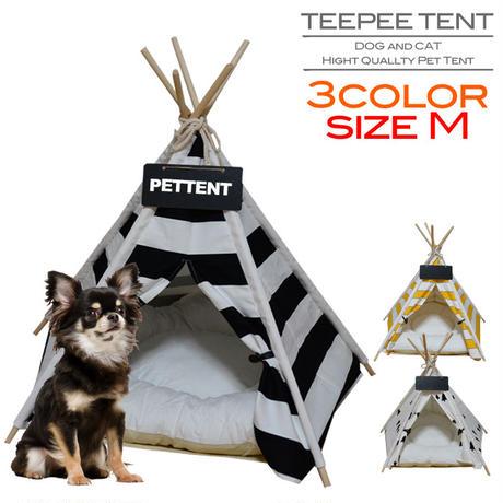 ペット用ティピーテント クッション・ネームプレート付き 選べる3色 Mサイズ