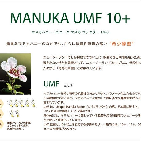 UMFレンジアクティブ・マヌカハニーUMF10+ 250g