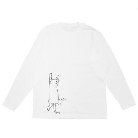 登りネコ 長袖Tシャツ