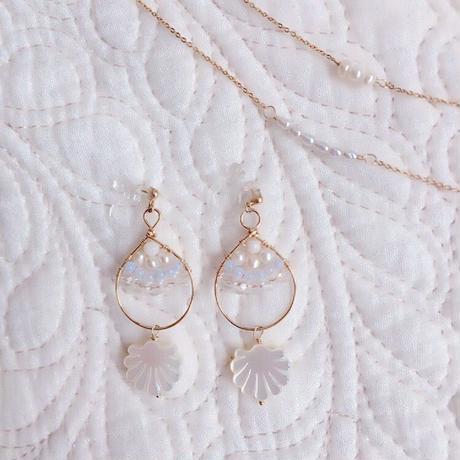 k14gf*shell hoop piercing/earrings