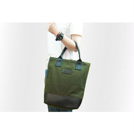 Mini Meena : Tote bag カーキ