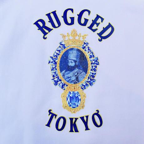 """【ラス1】RUGGED """"JAH SAPPHIRE"""" reverse weave sweat (White/12.0oz)"""