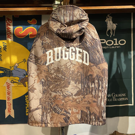 "RUGGED on Vintage ""ARCH LOGO"" real tree jacket (Brown)"