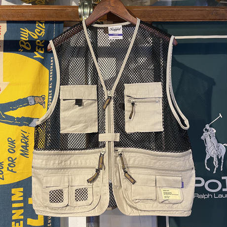 RUGGED fishing mesh vest (Beige)