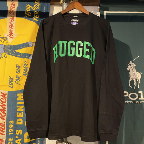 "RUGGED ""ARCH  LOGO"" L/S tee (Black)"