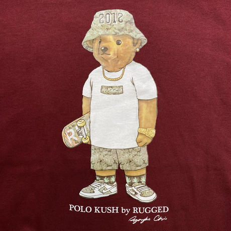 "RUGGED ""POLO KUSH"" tee (Burgundy)"