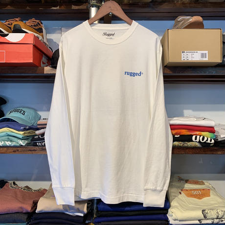 "RUGGED ""Neptune"" L/S tee (Vintage White)"