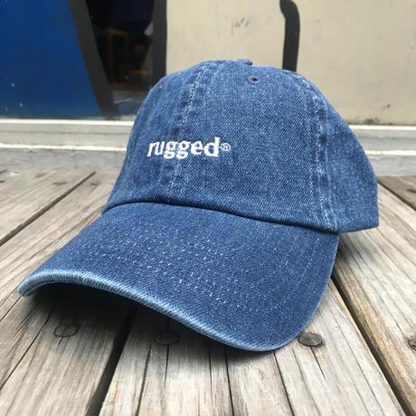 """【残り僅か】RUGGED """"rugged®︎""""  adjuster cap  (Denim)"""