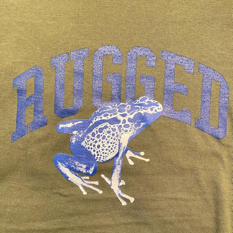 "RUGGED ""蛙"" tee (Olive Green)"