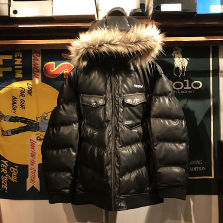 "【ラス1】RUGGED limited ""FUCK des BABYLON tokyo"" down jacket (Black)"