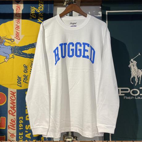 "RUGGED ""ARCH  LOGO"" L/S tee (White)"